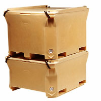 Plastic crates for international shipping from USA